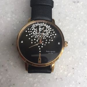 Champagne at midnight Kate Spade watch